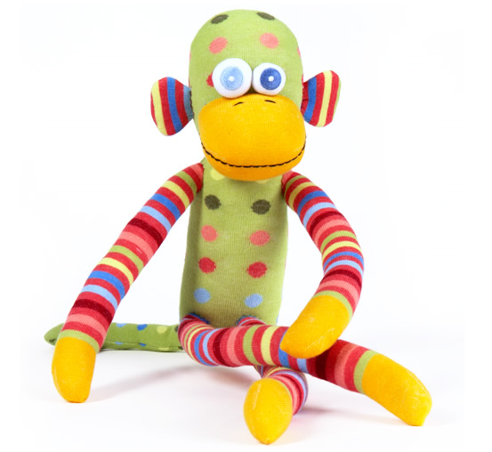 Miss-matched-sock-monkey